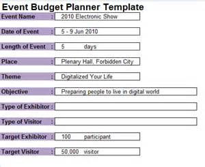 event planning budget template 7 event planning budget templates excel templates