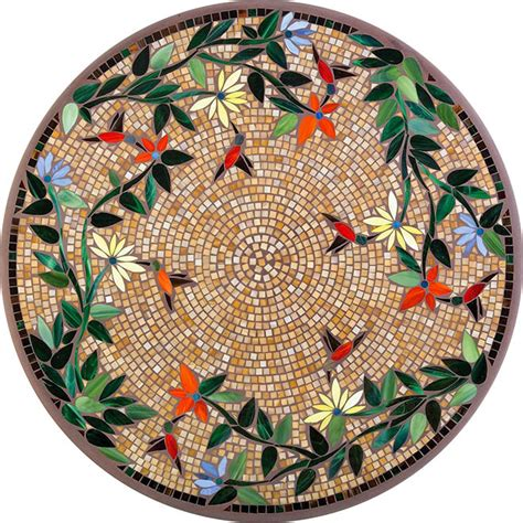 round mosaic pattern ideas 2015 mosaic table tops fishbecks patio furniture store