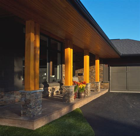 minimalist wood stone natural modern contemporary home