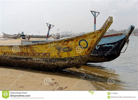 poor boat poor african fishing boats editorial image image of