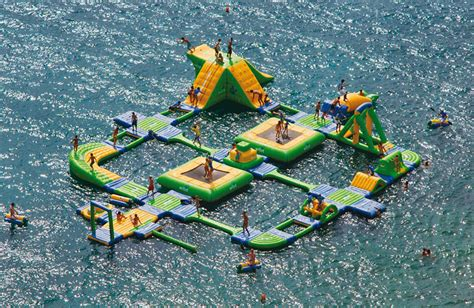 ultimate inflatable backyard water park coolest inflatable water parks damn cool pictures