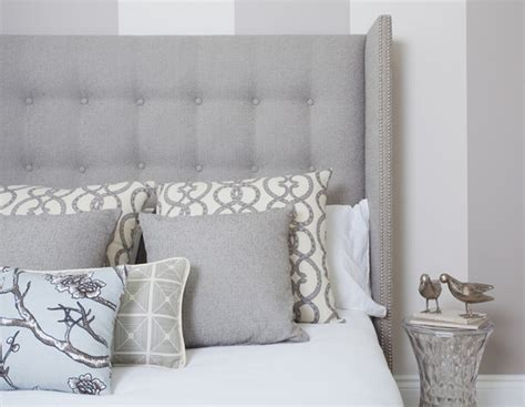 winged headboard modern studded wing headboard in dwell studio tonal tweed