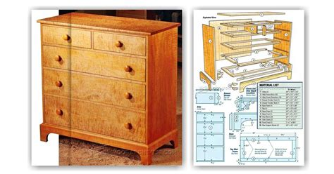 Plans For A Dresser by Shaker Dresser Plans Woodarchivist