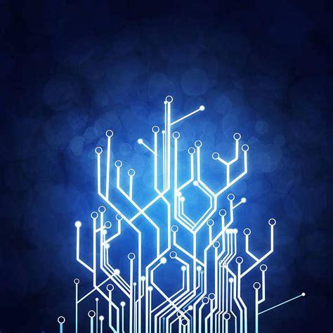 tech wall art cool circuit technology wallpaper