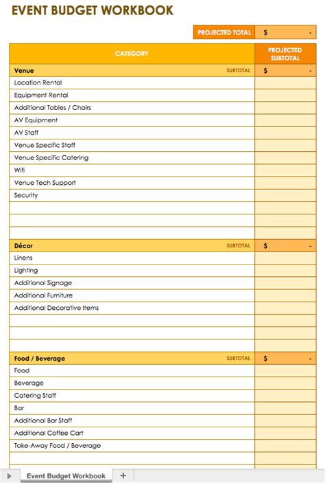 templates for events event budget template excel 2010 budget template free