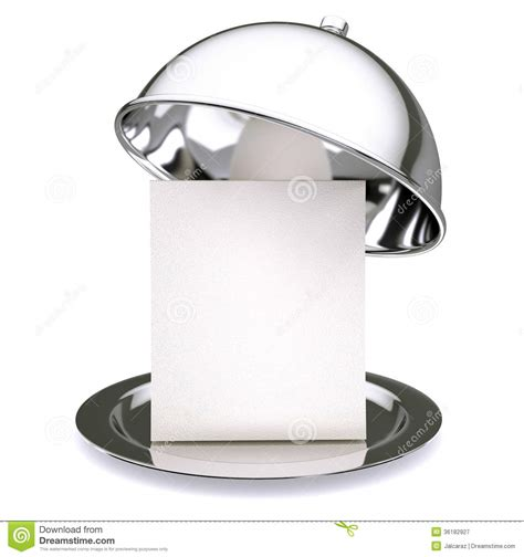 cloche cuisine cloche de restaurant photographie stock libre de droits