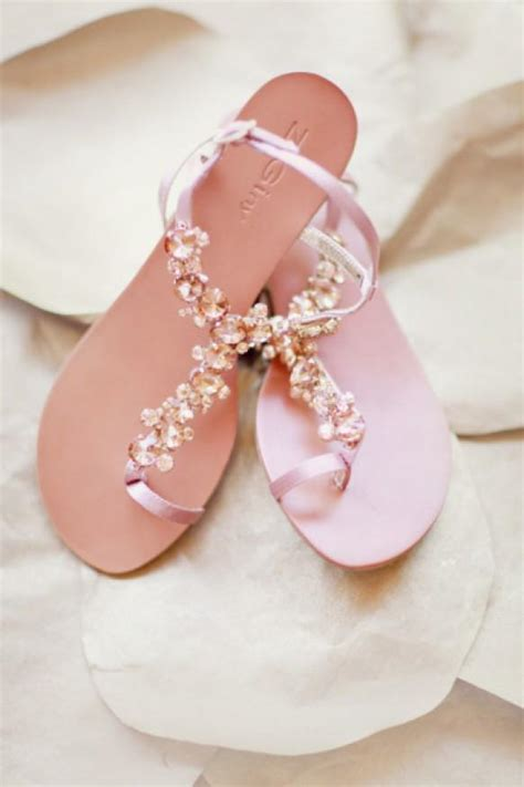 pink flat sandals wedding chic and comfortable blush wedding sandals 806029 weddbook