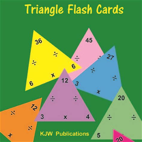 printable triangle flash cards addition subtraction free printable multiplication facts flash cards quick