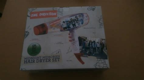 One Direction Hair Dryer one direction midnight memories hair dryer gift set for