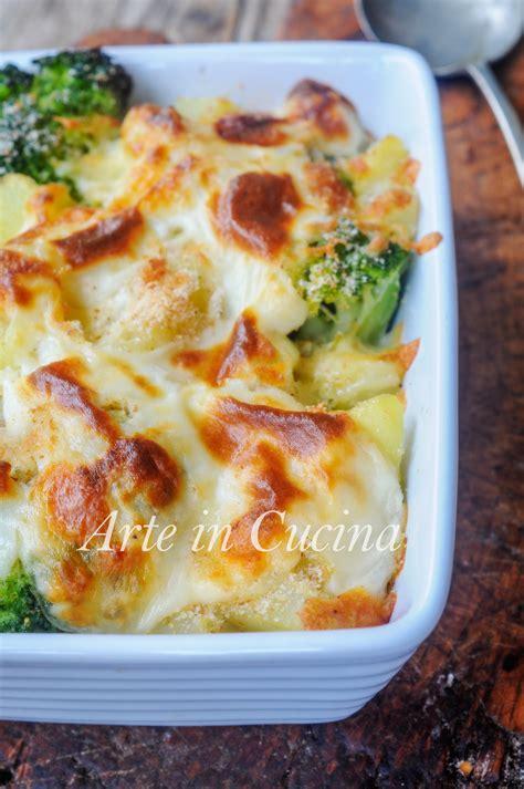 come cucinare i broccoli al forno broccoli con patate gratinati al forno ricetta facile