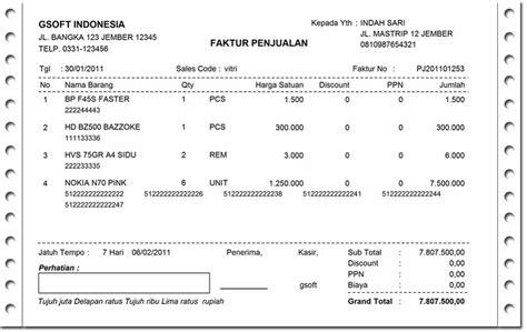 Contoh Surat Penjualan Barang Elektronik by Contoh Kwitansi Pembayaran Excel Yang Benar Silop