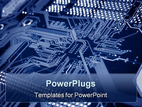 A Close Up Shot Of A Computer Motherboard Powerpoint Electronics Engineering Ppt Templates Free