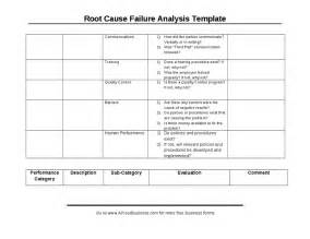 root cause failure analysis form
