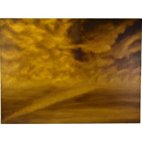 abstract sepia tone cloud painting skyscape by chicago