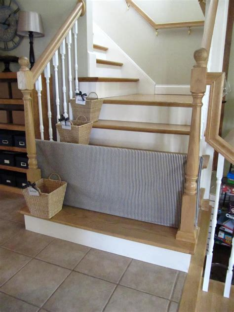 cheap dog gates for the house sew many ways tool time tuesday pvc dog gate and stair baskets too