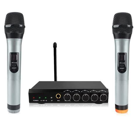 Mini Portable Microphone For Laptop Netbook Diskon 1 archeer vhf bluetooth microphone system mini portable singing mixer karaoke m ebay