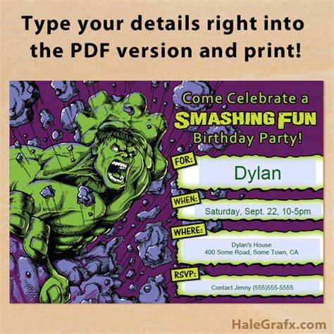 printable hulk banner free printable incredible hulk birthday invitation
