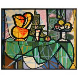 Rug Dealer Tapestry Still Life Painting By Pablo Picasso At 1stdibs