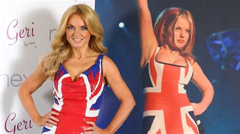 Is Geri Halliwells New The Real Thing by Nineties Alert Spice Revives The Union Dress