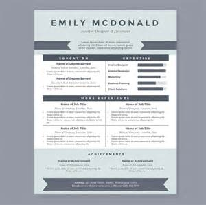 sea blue resume template package resume templates on