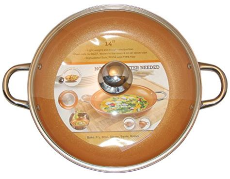 10 Inch Ceramic Fry Pan With Lid by Copper Frying Pan 10 Inch Ceramic Nonstick Saute Pan With