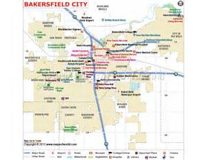 bakersfield city map in editable vector format