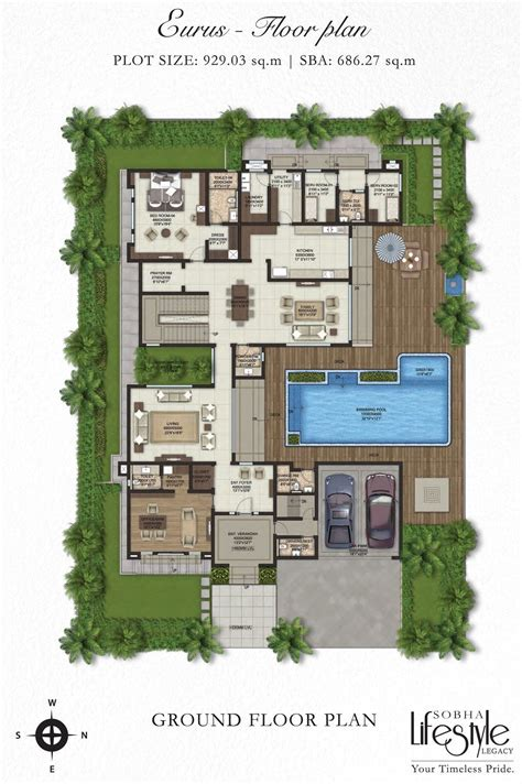villa house plans floor plans sobha lifestyle legacy 4 bedroom villas bangalore