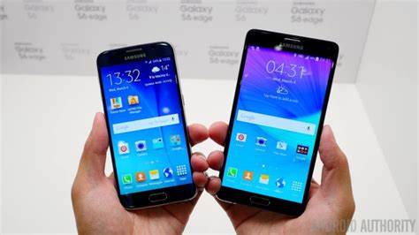 Samsung S6 Vs Note 4 Samsung Galaxy Note 4 Vs Galaxy S6 Taking Notes On The