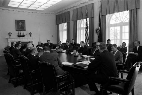Jfk Cabinet by Kn 24644 President F Kennedy Holds Cabinet Meeting