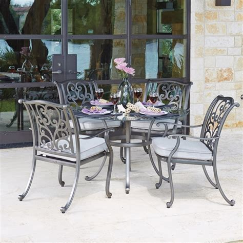 patio furniture new orleans woodard new orleans 5 dining set wd neworleans set3