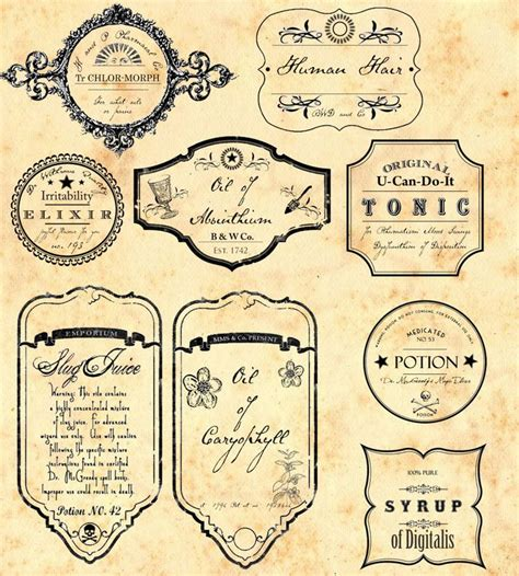 Fnd Labels Ori apothecarylabels jpg 920 215 1 023 pixels vintage labels and vintage la