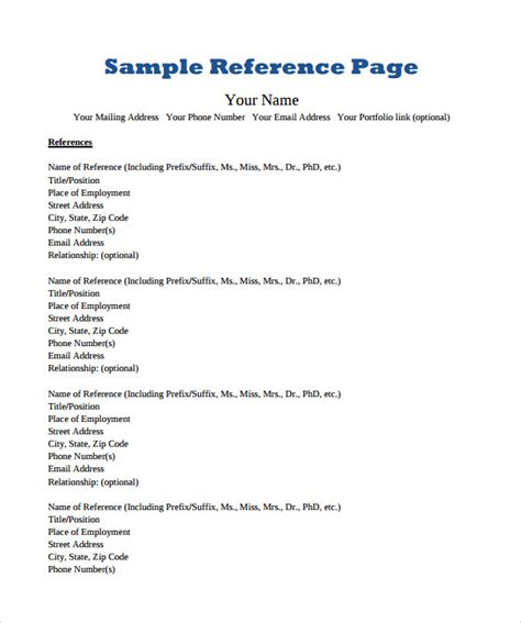 how to format references on a resume write reference page resume