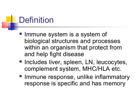 define systemize fundamentals of immunity
