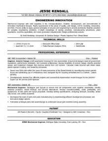 sle resume format for experienced mechanical engineer