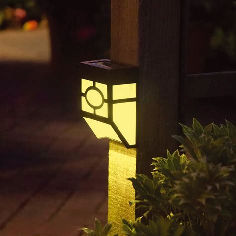 Brightest Solar Landscape Lights 4 X Outdoor Garden Shed Door Fence Wall Bright Solar Powered Led Lights Lighting Ebay