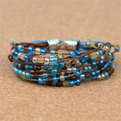 bead projects easy boho beaded bracelet happy hour projects