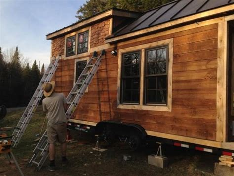 tiny house siding shingle siding on a tiny house on wheels vardo s and