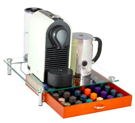 Nespresso Pod Storage Drawer by Decobros Tempered Glass Nespresso Storage Drawer
