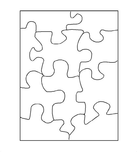 puzzle template blank puzzle template free premium