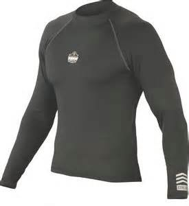 large black polyester elastane core long sleeve thermal