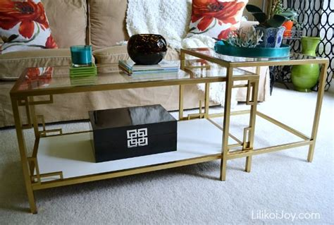 ikea vittsjo coffee table hack gold white key