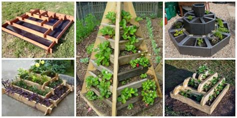 Vertical Garden Beds Diy Vertical Pyramid Tower Raised Garden Beds