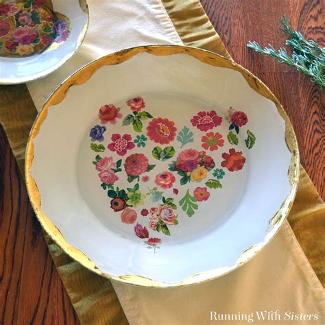how to decoupage plates sweet plate how to decoupage on glass running