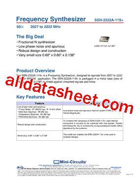 datasheet of transistor 2222a ssn 2222a 119 datasheet pdf mini circuits