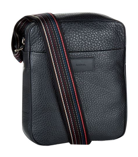 This Paul Smith Bag Looks Better If You Squint by Paul Smith City Webbing Mini Leather Messenger Bag In