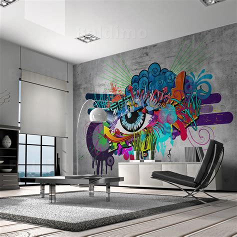 graffiti wall mural wallpaper non woven photo wall mural print graffiti 10110905 10 ebay