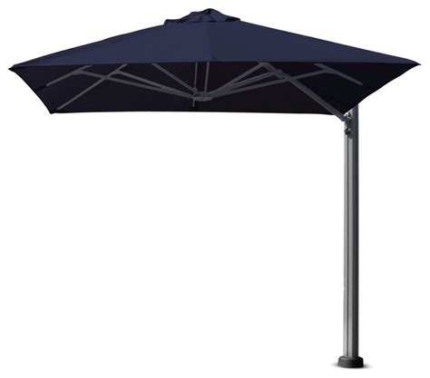Portable Patio Umbrella Shadowspec 9 10 Quot Square Uno Umbrella Portable Base And Led Lights View In Your Room Houzz