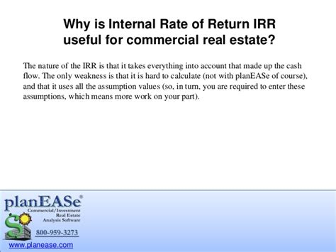 50 real estate investing calculations flow irr value profit equity income roi depreciation more books rate of return irr for commercial real estate