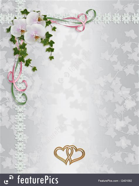 Pre Wedding Cards Templates by Templates Wedding Invitation Orchids Stock