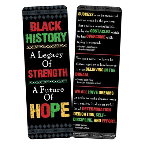 Their Black Bookmarks by Black History A Legacy Of Strength A Future Of